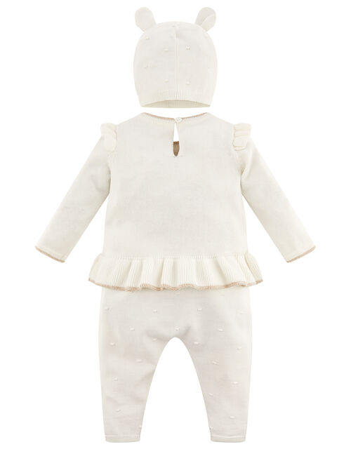 Newborn Baby Deer Knit Set, Ivory (IVORY), large