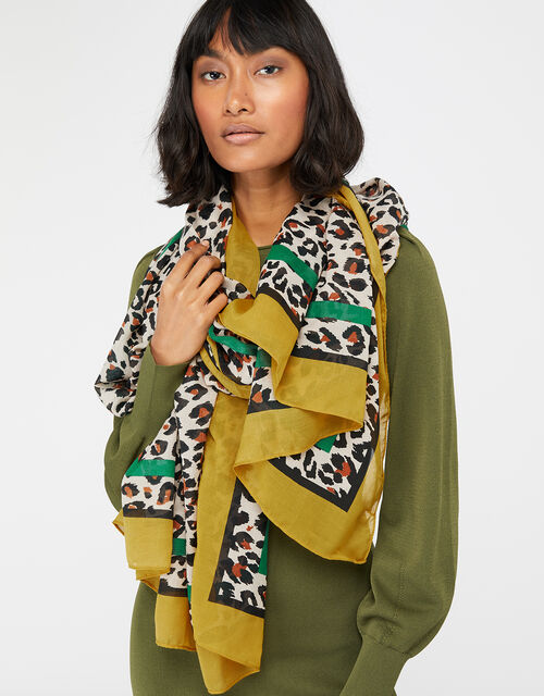 Ali Animal Scarf in Recycled Polyester, , large