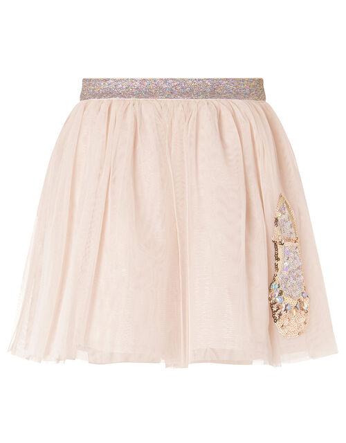 Sparkle Shoe Disco Skirt, Nude (NUDE), large