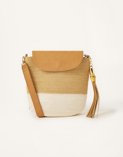 Jessie Jute Cross-Body Bag , , large