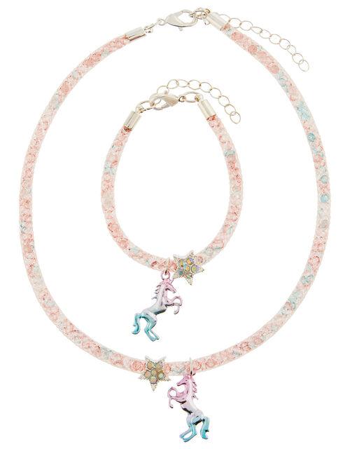 Unicorn Sparkle Encased Jewellery Set, , large