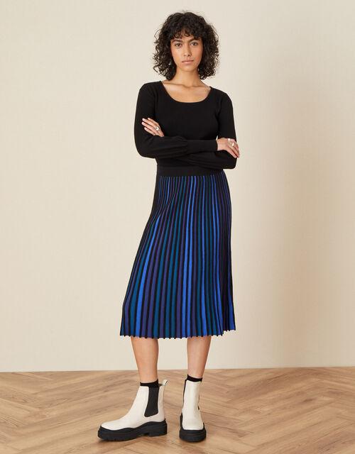 Ceiros Colourblock Pleated Skirt, Teal (TEAL), large