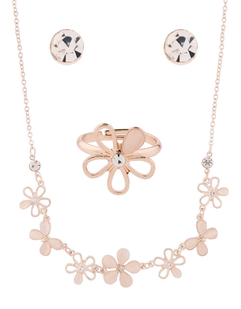 Flower and Butterfly Jewellery Set, , large