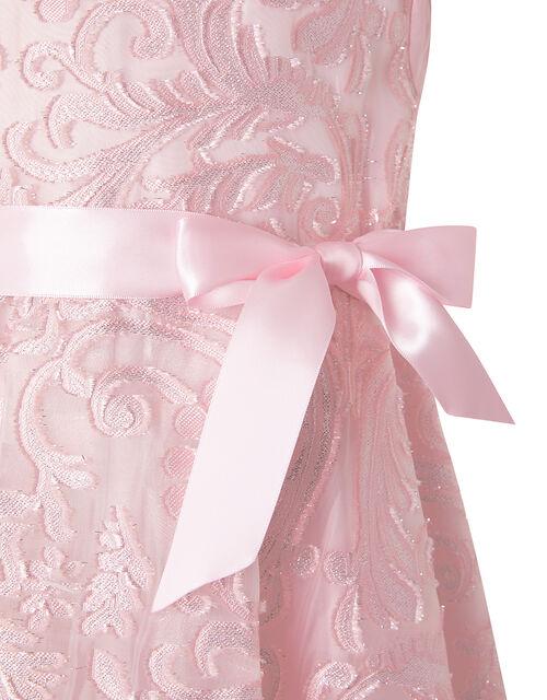 Cordelia Sparkle Jacquard Party Dress, Pink (PINK), large