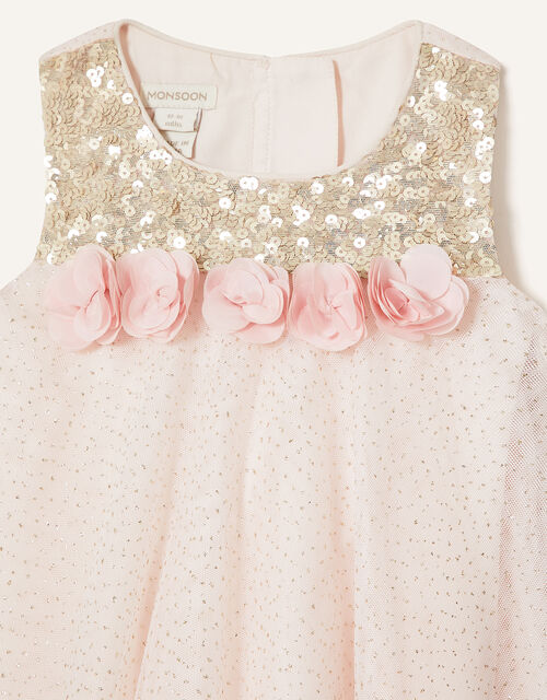 Baby Petal Sequin Swing Dress, Pink (PINK), large