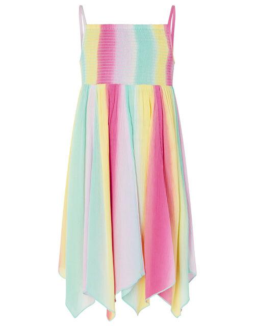 Rainbow Tie-Dye Dress in LENZING™ ECOVERO™, Multi (MULTI), large