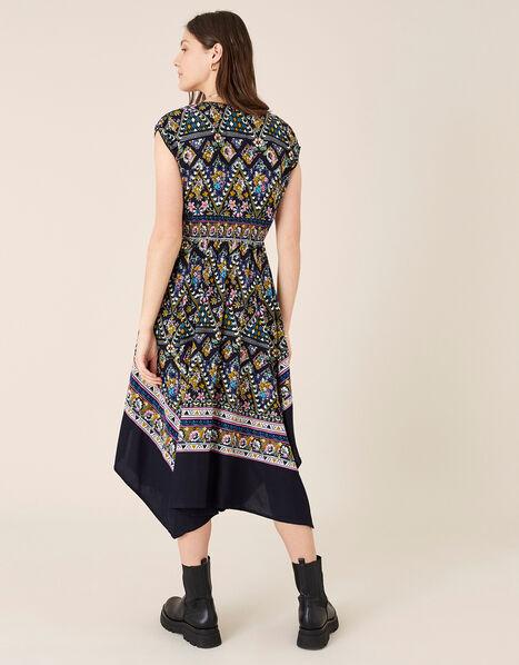 Pablo Contrast Print Hanky Hem Dress Multi, Multi (MULTI), large