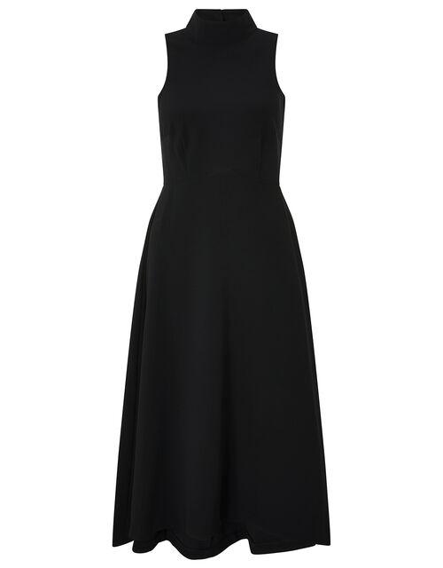 Jade High Neck High-Low Dress, Black, large