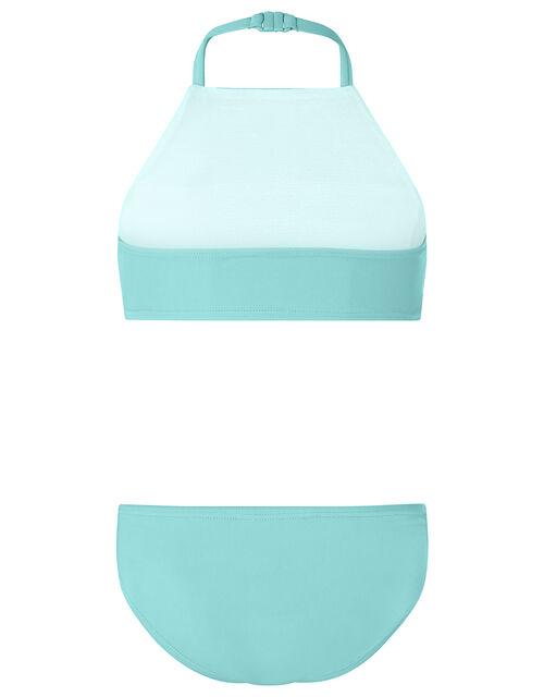 Reversible Sequin Bikini Set, Blue (TURQUOISE), large