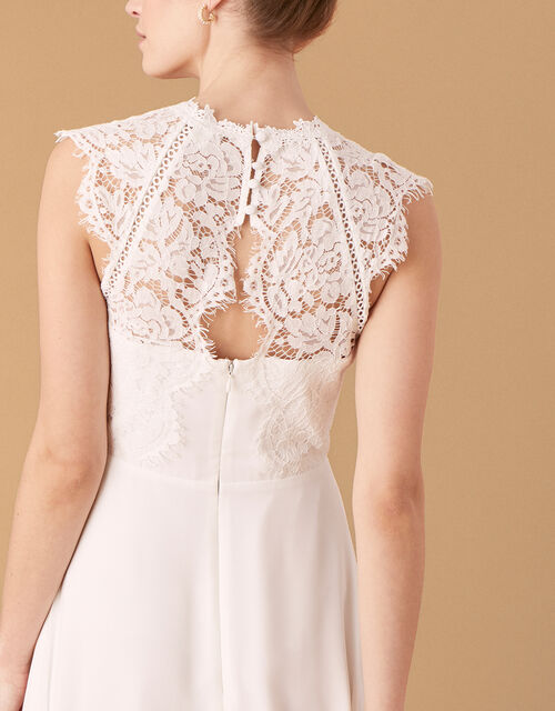 Lilian Lace Bodice Bridal Dress, Ivory (IVORY), large