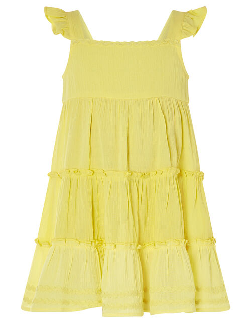 Baby Sunshine Tiered Dress, Yellow (YELLOW), large