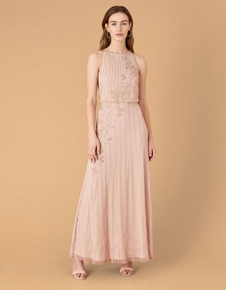 ARTISAN Summer Beaded Floral Dress Pink, Pink (PINK), large