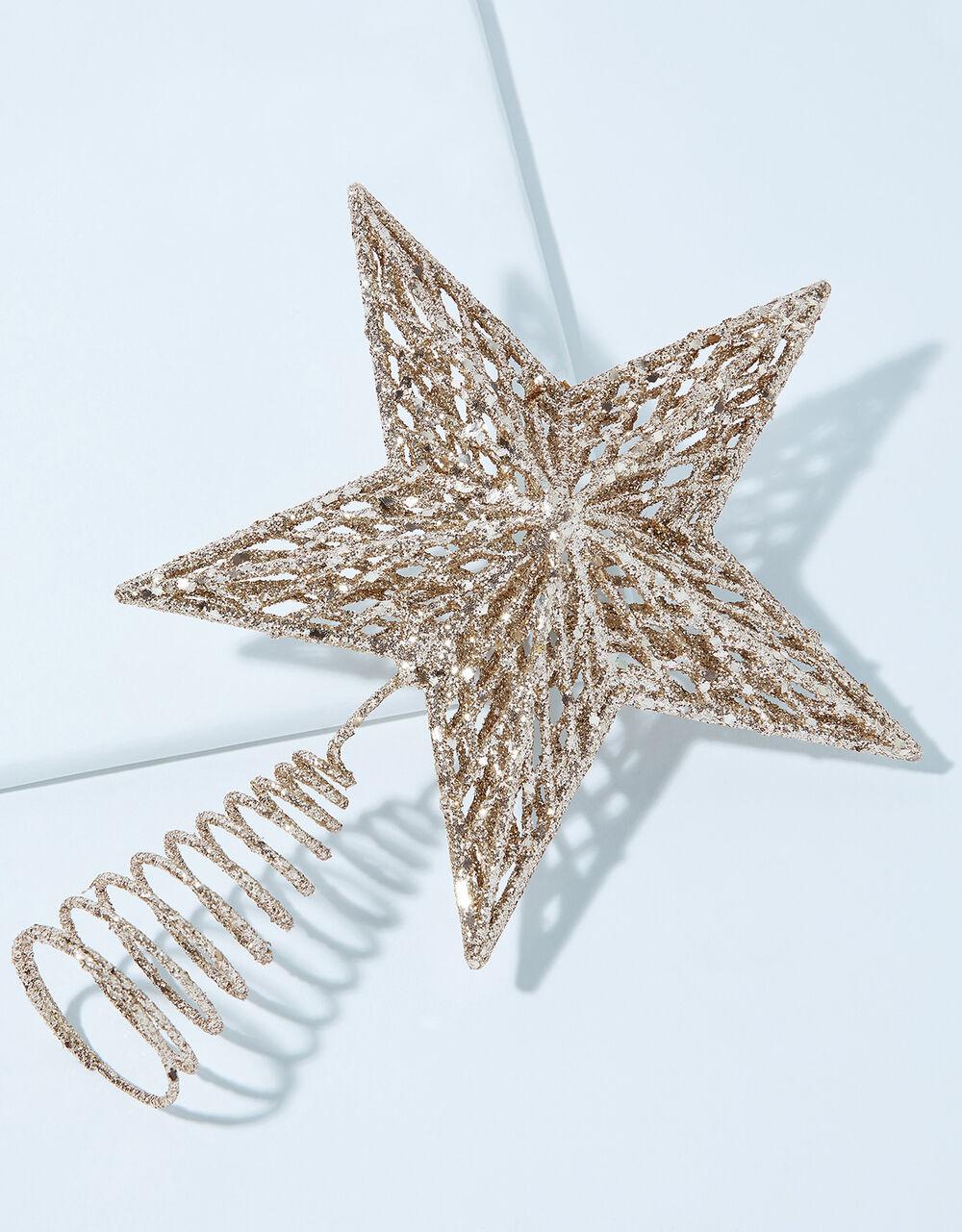 Glitter Star Christmas Tree Topper, , large