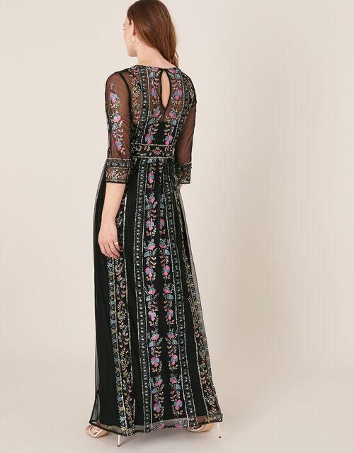 Florencia Embellished Maxi Dress, Black (BLACK), large