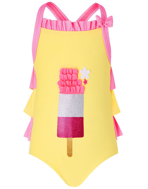 Baby Ice Lolly Colourful Swimsuit, Yellow (YELLOW), large