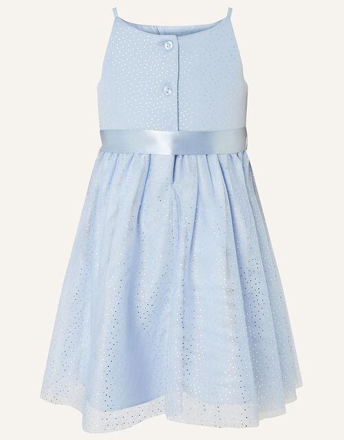 Baby Foil Spot Shimmer Dress, Blue (PALE BLUE), large