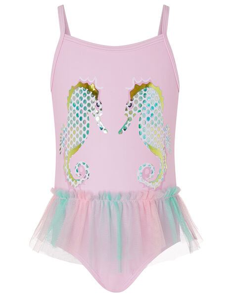 Baby Blaire Seahorse Swimsuit Pink, Pink (PALE PINK), large