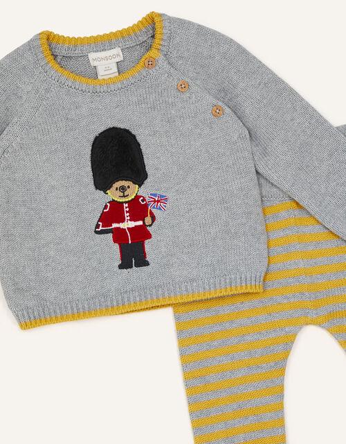 Newborn London Guard Knit Set, Grey (GREY), large