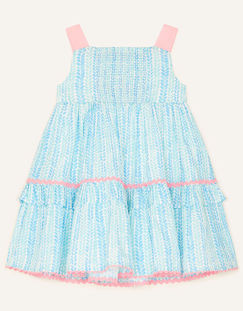 Baby Summer Printed Dress, Blue (BLUE), large