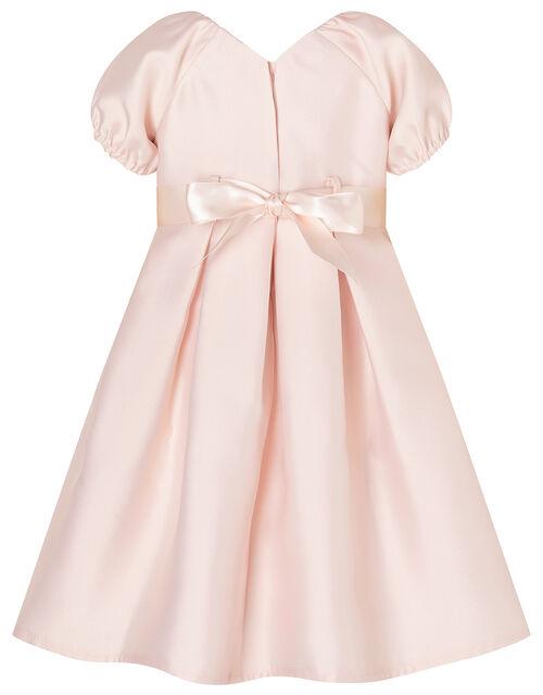Baby Corsage Belt Duchess Twill Dress, Pink (PINK), large