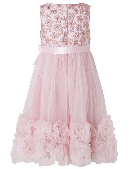 Nina Jacquard and Rose Occasion Dress, Pink (PINK), large