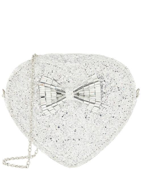 Florabelle Glitter Heart Cross-Body Bag, , large