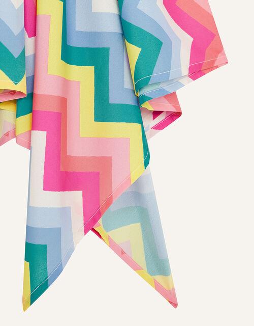 Rainbow Chevron Hanky Hem Dress, Multi (MULTI), large