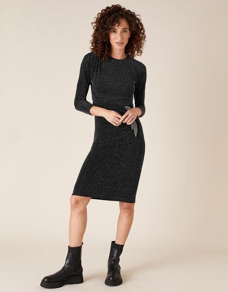 Gabriella Sparkle Dress Black, Black (BLACK), large