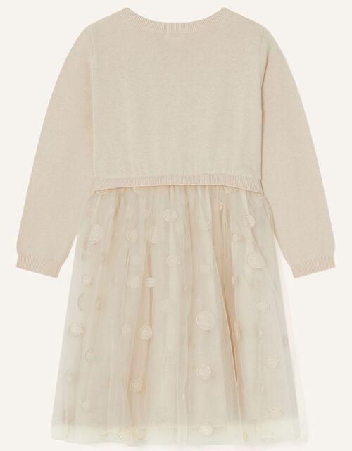 2-in-1 Unicorn Knit Dress, Cream (CREAM), large