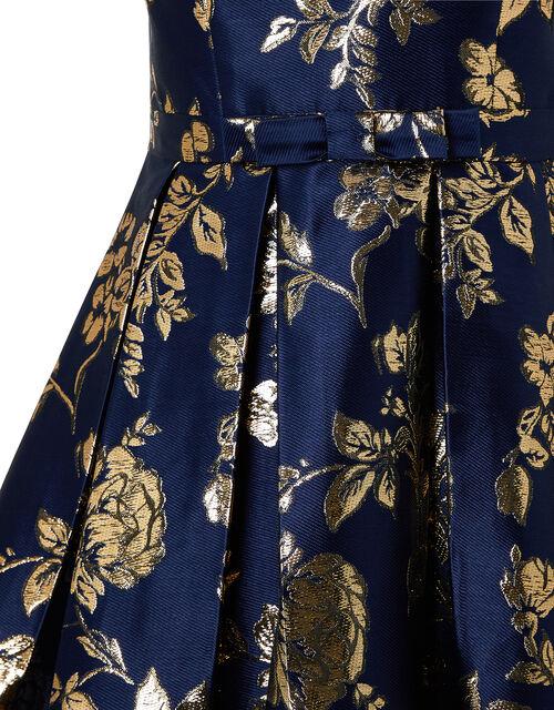 Bonnie One-Shoulder Jacquard Occasion Dress, Blue (NAVY), large