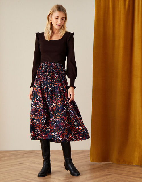 Martini Animal Print Skirt, Black (BLACK), large