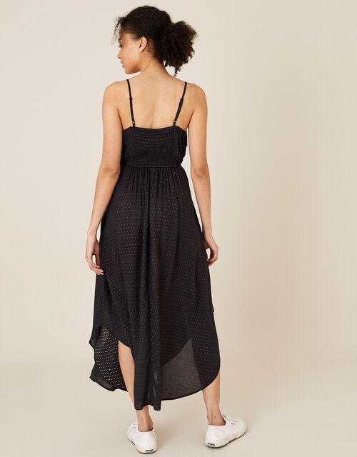 Spot Print Cami Dress in LENZING™ ECOVERO™, Black (BLACK), large