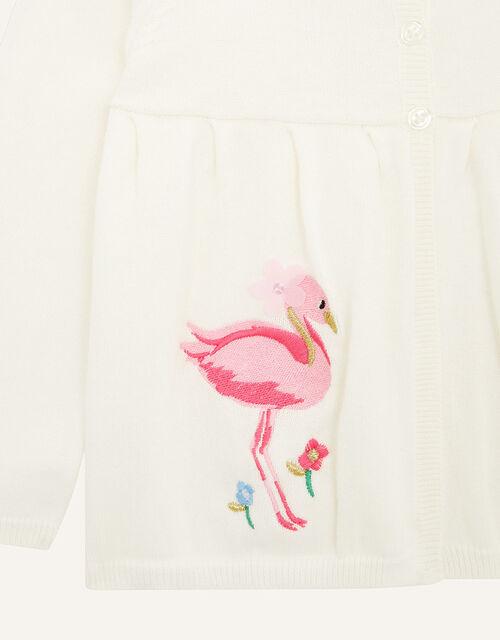 Baby Flamingo Cardigan , Ivory (IVORY), large