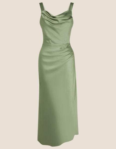 Camilla Cowl Satin Dress Green, Green (GREEN), large