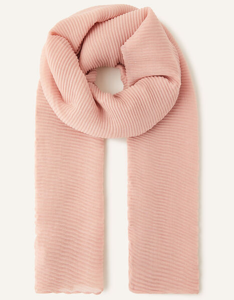 Shimmer Pleated Occasion Scarf Pink, Pink (BLUSH), large