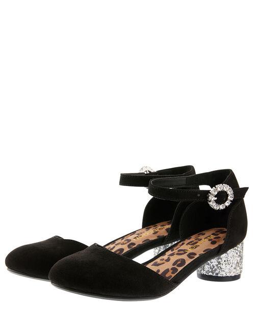 Ada Two-Part Glitter Shoes, Black (BLACK), large