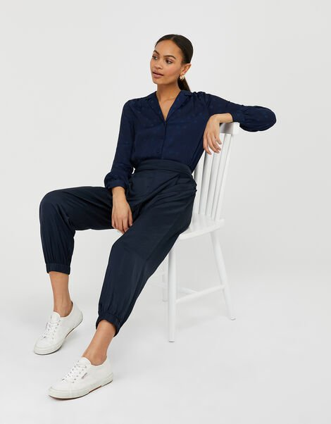 Relaxed Genie Trousers Blue, Blue (NAVY), large