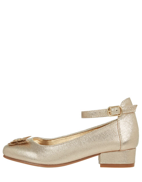 Glittery Layered Butterfly Mini Heels, Gold (GOLD), large