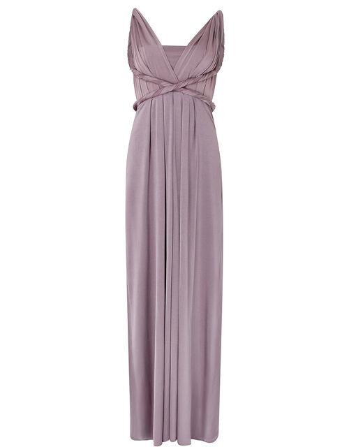 Tallulah Twist Me Tie Me Jersey Bridesmaid Dress, Brown (MOCHA), large