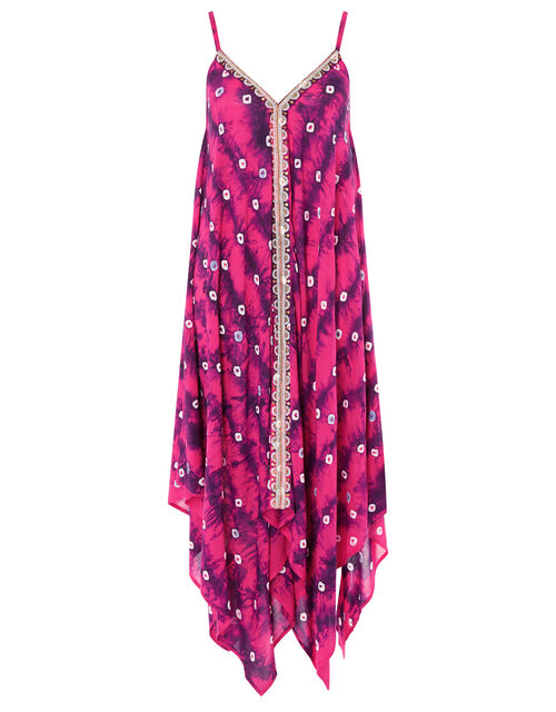 Sequin Embroidered Tie-Dye Dress, Purple (PURPLE), large