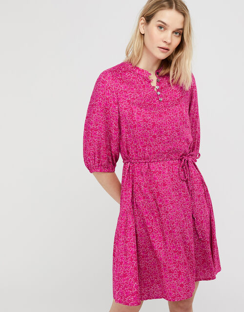 Manilla Printed Dress in LENZING™ ECOVERO™, Pink (PINK), large