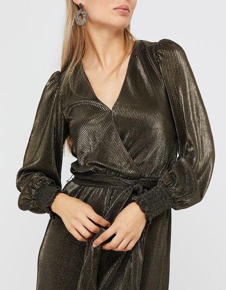 Lillian Plisse Jersey Jumpsuit Gold, Gold (GOLD), large