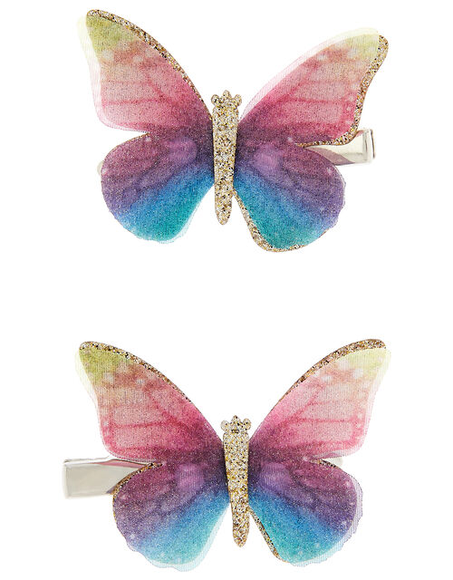 Rainbow Butterfly Hair Clips, , large