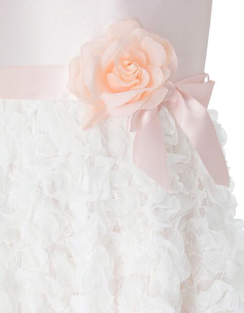 Orabelle Hanky Hem Dress with 3D Flowers, Pink (PALE PINK), large