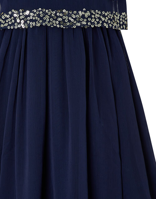 Meghan Sequin Party Dress, Blue (NAVY), large