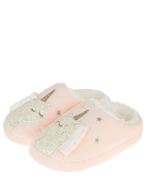 Unicorn Slippers, Pink (PINK), large