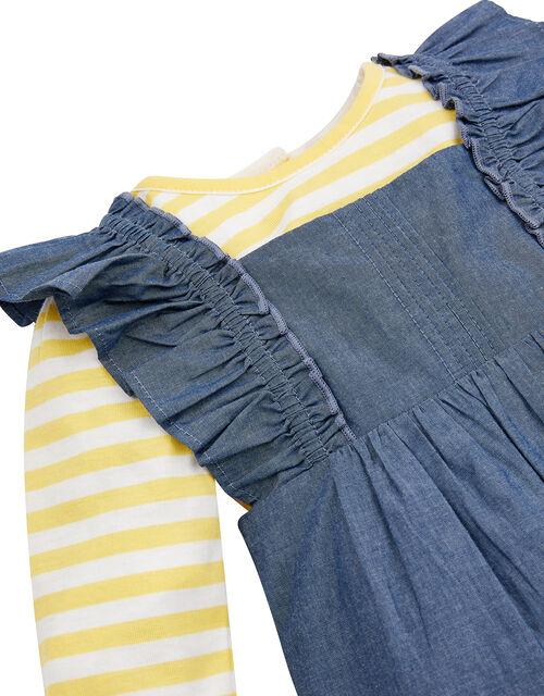 Baby Daisy Dungarees Set, Blue (BLUE), large