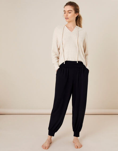LOUNGE Heidi Jersey Hareem Trousers , Black (BLACK), large