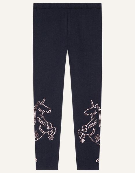 Unicorn Stud Leggings  Blue, Blue (NAVY), large