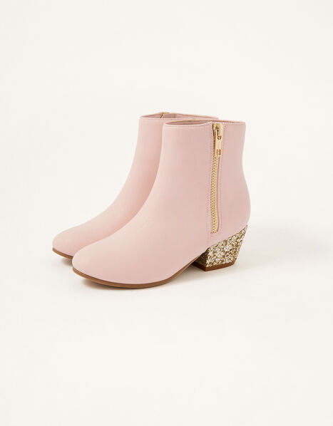 Glitter Heel Boots Pink, Pink (PINK), large